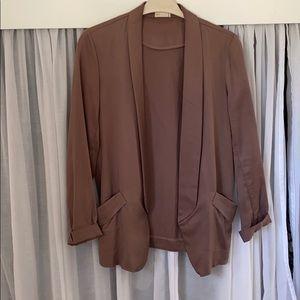 Jackets & Blazers - Brown Loose Fit Blazer